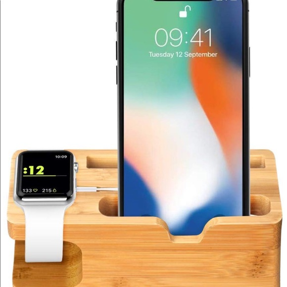 Other - Bamboo Charging Station for Apple Watch and iPhone